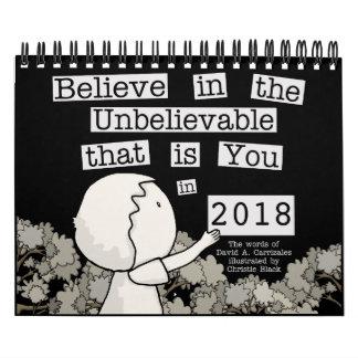 Little Boy Arranges Words 2018 (small) Calendar