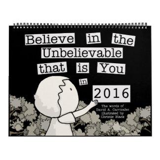 Little Boy arregla las palabras 2016 Calendarios De Pared