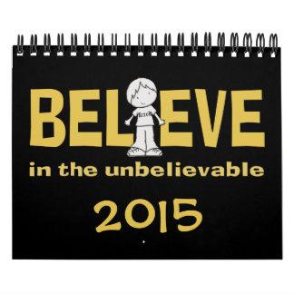 """Little Boy as the """"I"""" in Believe 2015 Wall Calendars"""