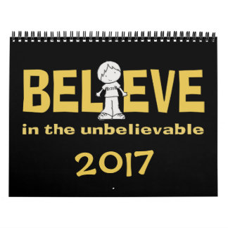 "Little Boy as the ""I"" in Believe 2017 (medium) Calendar"