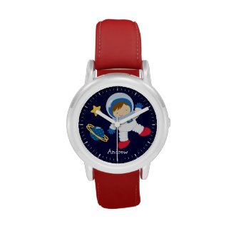 Little Boy Astronaut Personalized Wristwatch