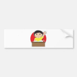 Little Boy at School Asian Bumper Sticker