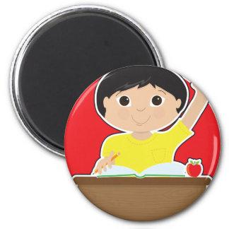Little Boy at School Asian Magnet