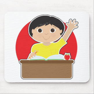 Little Boy at School Asian Mouse Pad