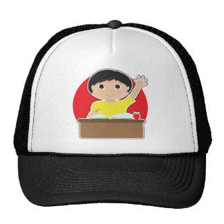 Little Boy at School Asian Trucker Hat