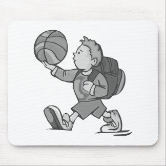 Little boy big basketball mouse pad