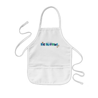 Little Boy, Big Blessing Christian apron