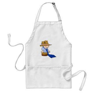 Little boy big tie & hat adult apron