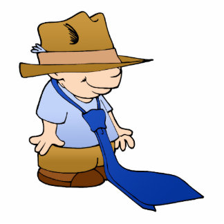 Little boy big tie & hat photo cutouts