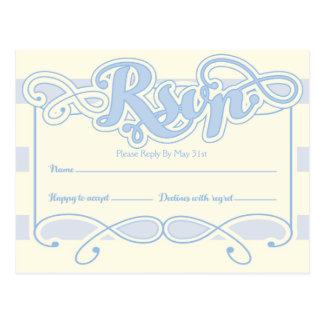Little Boy Blue Baby Shower RSVP card