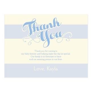 Little Boy Blue Baby Shower, Thank You Cards