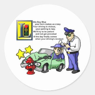 Little Boy Blue Classic Round Sticker