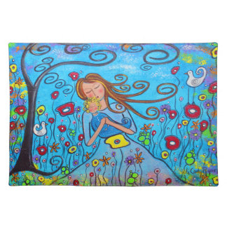 Little Boy Blue Mother/Son Placemat Cloth Place Mat