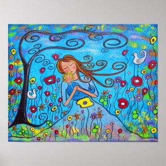 Little Boy Blue Original Art Poster