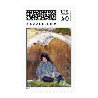 Little Boy Blue Sleeping Under the Haycock Postage