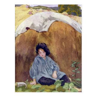 Little Boy Blue Sleeping Under the Haycock Postcard