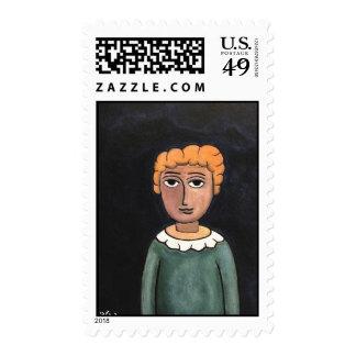 Little boy by rafi talby postage stamp