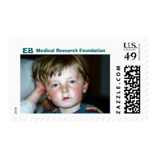 little boy close up, EB, Medical Research Found... Stamps