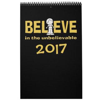 """Little Boy como """""""" adentro creo 2017 Calendario"""