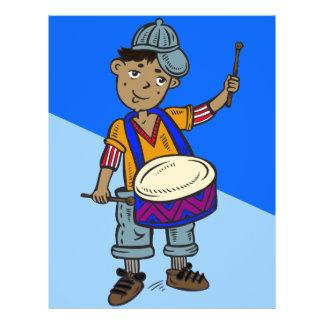 """Little Boy con los tambores Folleto 8.5"""" X 11"""""""