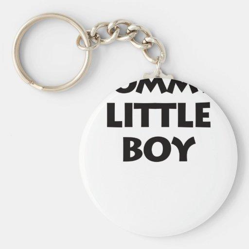 Little Boy de la mamá Llavero Redondo Tipo Pin