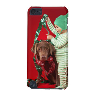 Little boy decorating a dog iPod touch (5th generation) case