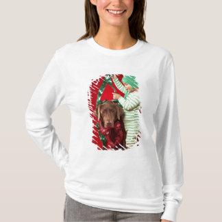 Little boy decorating a dog T-Shirt