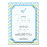 "Little Boy Elephant Baby Shower Invitations 5"" X 7"" Invitation Card"