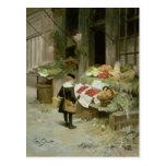 Little Boy en el mercado Tarjetas Postales