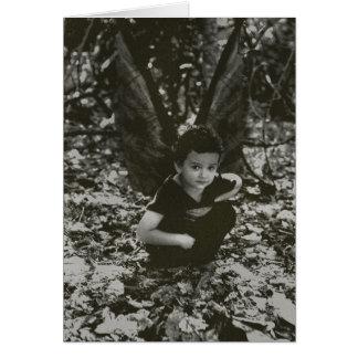 Little Boy Fairy Fantasy Art Greeting Card (Blank)