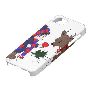 Little Boy Feeding Reindeer iPhone SE/5/5s Case