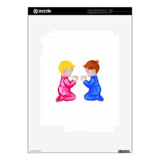 Little Boy & Girl Praying Decal For iPad 2