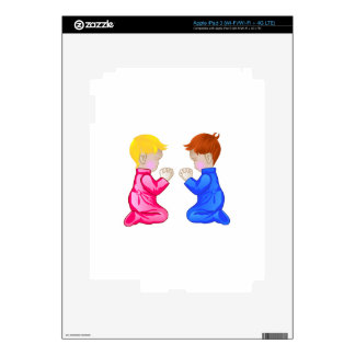 Little Boy & Girl Praying Decals For iPad 3