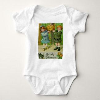 Little Boy & Girl With Jack O' Lantern Tshirt