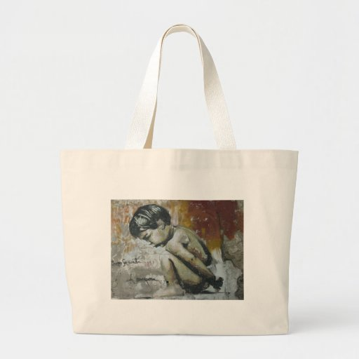 Little Boy Graffiti Canvas Bags