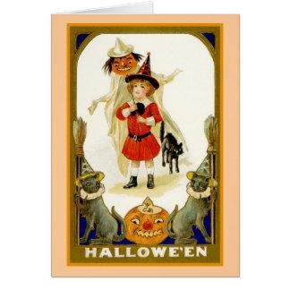 Little Boy Halloween Card