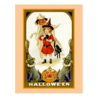 Little Boy Halloween Postcards