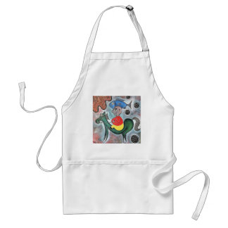 Little boy horse and a fish by rafi talby adult apron