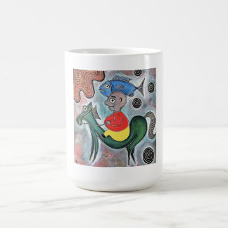 Little boy horse and a fish by rafi talby classic white coffee mug