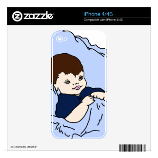 Little Boy in blue Decal For iPhone 4