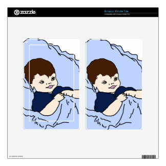 Little Boy in blue Kindle Fire Decals