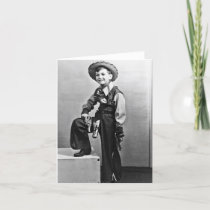Little Boy in Cowboy Outfit Notecard