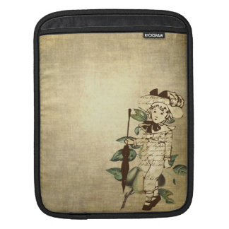 Little Boy in Vintage Garb with Pears iPad Sleeves