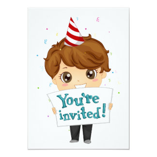 Little Boy Invite