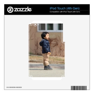 Little boy iPod touch 4G decal