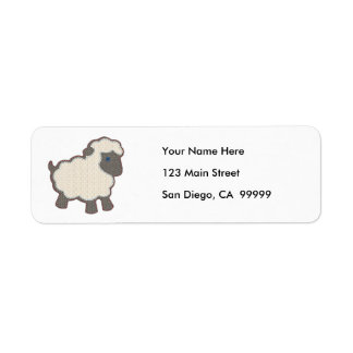 Little Boy Lamb Applique Address Label
