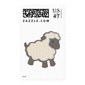 Little Boy Lamb Applique Postage