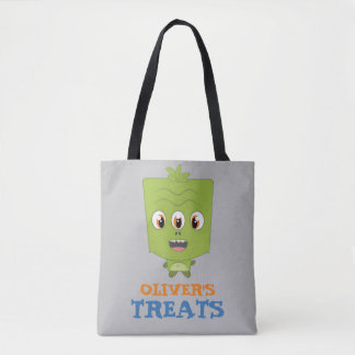 Little Boy Monster Trick or Treat Candy Bag
