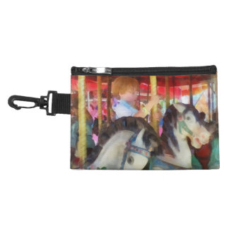Little Boy on Carousel Accessories Bags