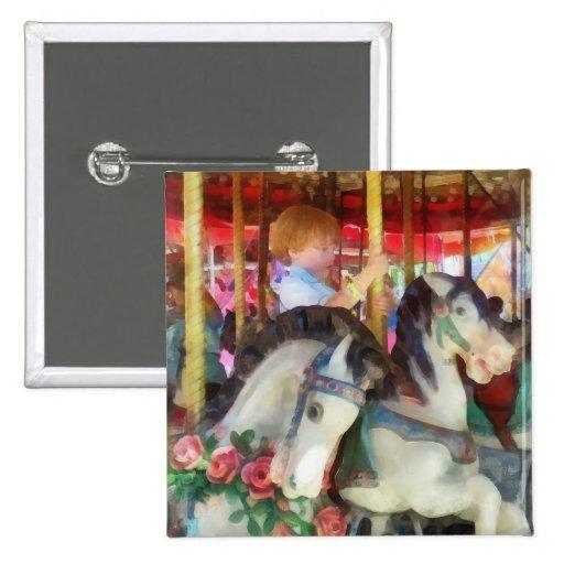 Little Boy on Carousel Buttons